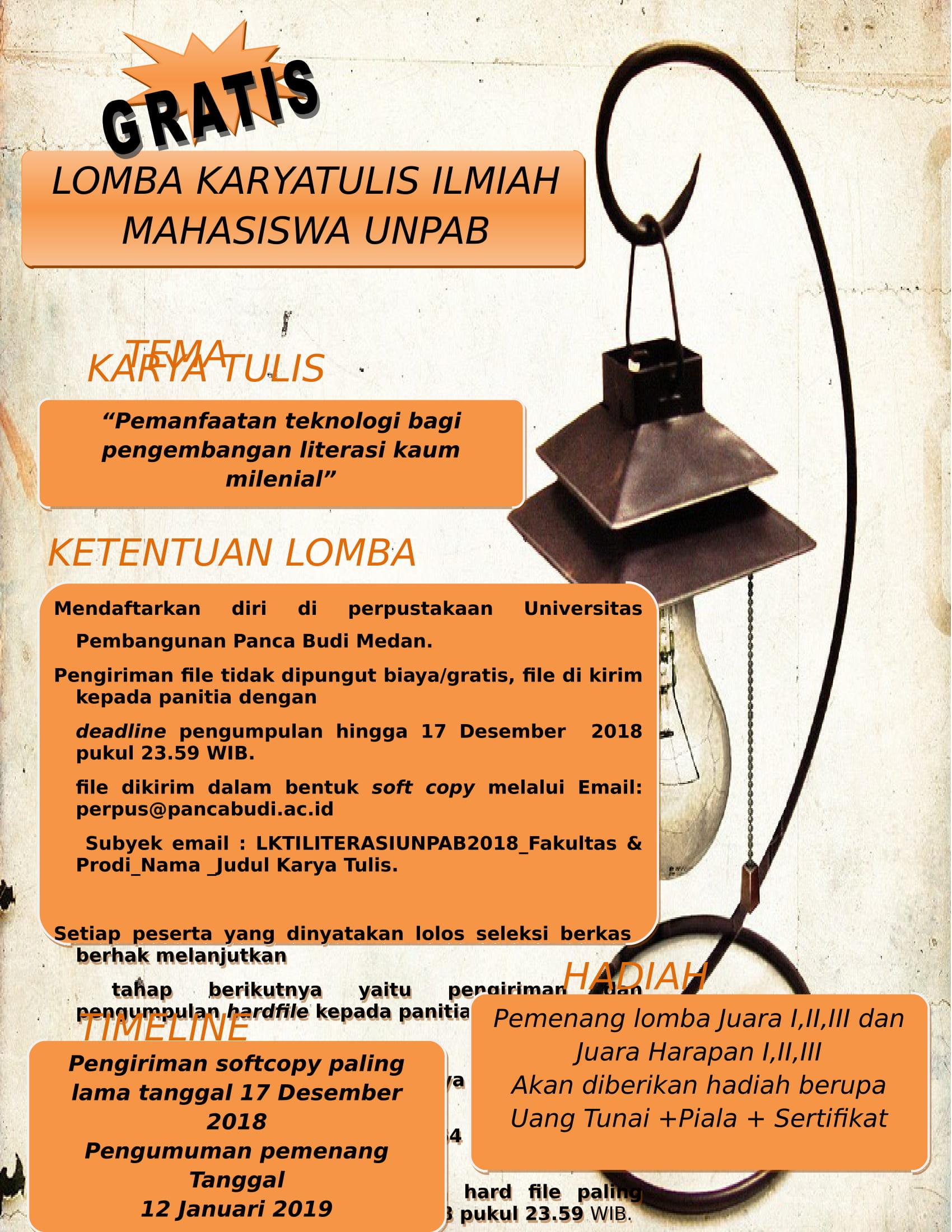 Lomba Karya Tulis Ilmiah (LKTI) Perpustakaan Unpab Medan